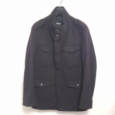 【中古】アレグリ allegri ウール ショート丈 コート ジャケット 紫 パープル ボルドー LL 1230 メンズ 【ベクトル 古着】