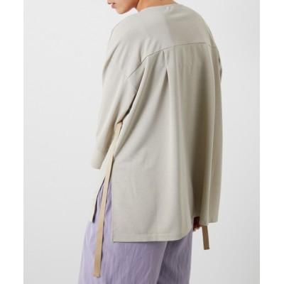 シャツ ブラウス ウエストドロストカットシャツ