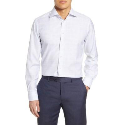 エトン シャツ トップス メンズ Contemporary Fit Plaid Dress Shirt Blue