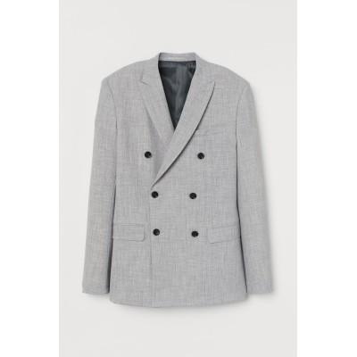 H&M - スリムフィットジャケット - グレー