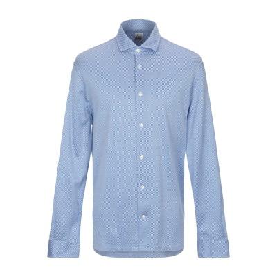 BARBA Napoli シャツ アジュールブルー 40 コットン 100% シャツ