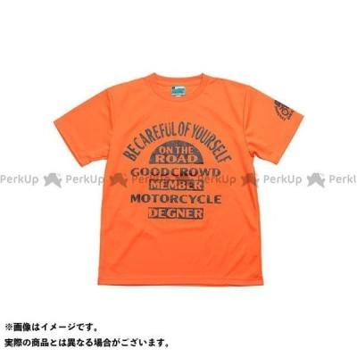 【無料雑誌付き】DEGNER カジュアルウェア 2021春夏モデル 21TS-2 デグナーTシャツ(オレンジ) サイズ:L デグナー