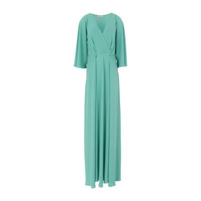 MAESTA ロングワンピース&ドレス ライトグリーン 44 PES - ポリエーテルサルフォン 100% ロングワンピース&ドレス