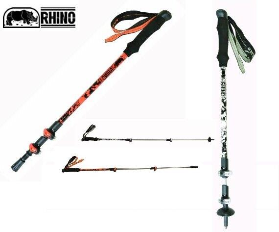 犀牛 RHINO 791 快扣 登山杖 健行杖 摺疊杖 可調整61至130公分【大自在運動休閒精品店】