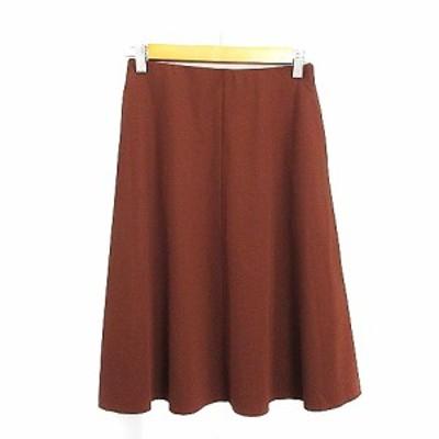 【中古】エムズセレクト m's select スカート フレア ひざ丈 36 茶色 ブラウン /AAM29 レディース