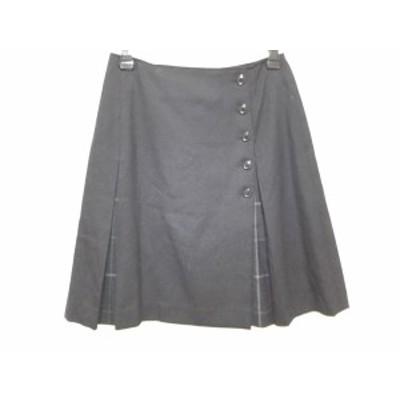 ヨークランド YORKLAND ミニスカート サイズ9AR  S レディース 黒×マルチ チェック柄【中古】20200731