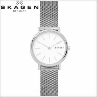 【レビューを書いて5年保証】  スカーゲン SKAGEN SKW2692 シグネチャー時計 腕時計 レディース ホワイト メッシュ