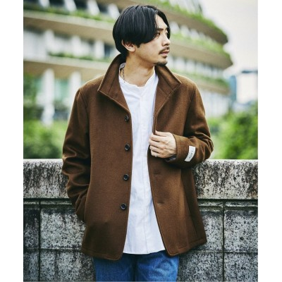 (JOURNAL STANDARD/ジャーナルスタンダード)【Super140S BREND】スタンド ショートコート/メンズ ブラウン