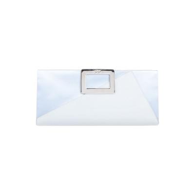 ロジェヴィヴィエ ROGER VIVIER ハンドバッグ ライトグレー 革 / 紡績繊維 ハンドバッグ