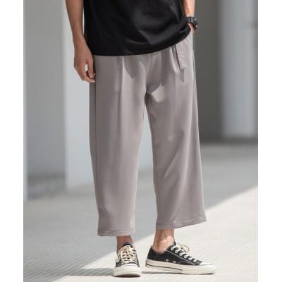 SPADE / 【neos -addictive design-】ワイドシルエット ベルト付き アンクル スラックス パンツ MEN パンツ > スラックス