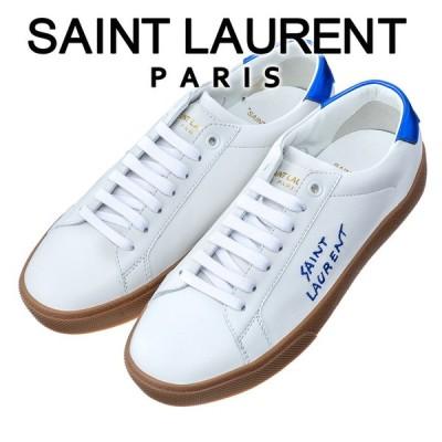 サンローラン SAINT LAURENT レディース スニーカー コート クラシック SL/06 エンブロイダリー 610649 0ZS70 9587 ホワイト