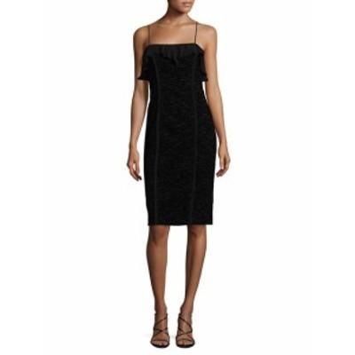ニコールミラー レディース ワンピース Flock Velvet Lace Slip Dress