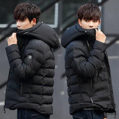 ダウンジャケット メンズ ダウンコート フード付き ジャケット 厚手 アウター 男性 中綿ジャケット 秋 冬 防寒 防風 紳士用