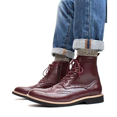 ZealMarket/SFW / ウイングチップレースアップカントリーブーツ MEN シューズ > ブーツ