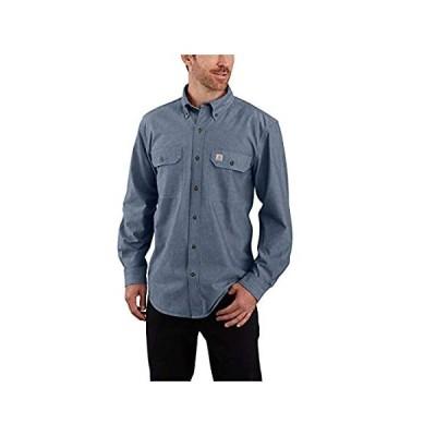 特別価格[カーハート] シャツ 長袖 ボタンダウン ポケット 無地 シャンブレー 104368 メンズ デニムBLUEシャンブレー(499) XL好評販売中