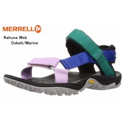 (メレル)Kahuna Web MERRELL J002585 J002583 J000779 カジュアルスポーツサンダル 速乾性に優れたメッシュ素材をライニングに採用 メン