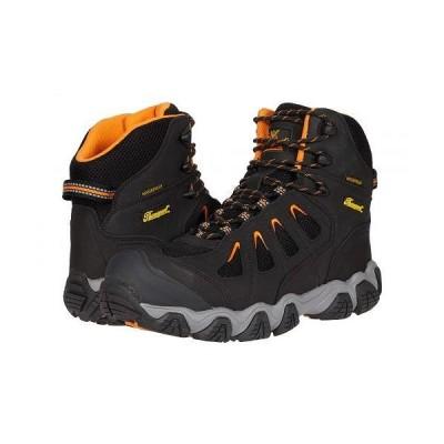 """Thorogood ソログッド メンズ 男性用 シューズ 靴 ブーツ ワークブーツ 6"""" Crosstrex Waterproof Comp Toe - Black/Orange"""