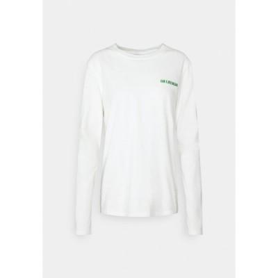 ハン コペンハーゲン カットソー レディース トップス CASUAL LONG SLEEVE TEE - Long sleeved top - offwhite