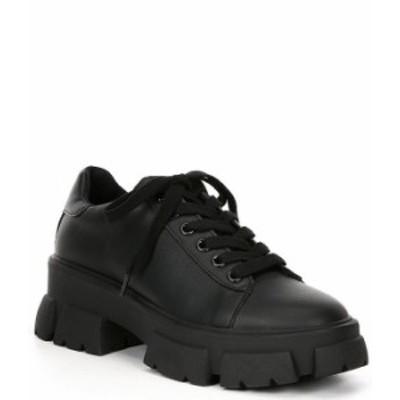 スティーブ マデン レディース スニーカー シューズ Michigan Lace-Up Lug Sole Sneakers Black