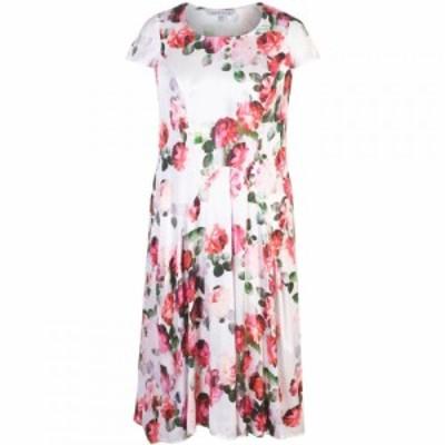チェスカ Chesca レディース ワンピース ワンピース・ドレス Floral Print Satin Dress Multi-Coloured