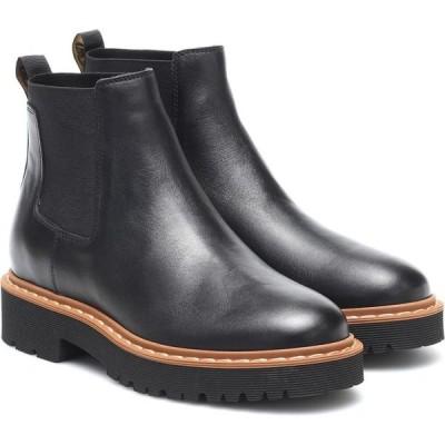 ホーガン Hogan レディース ブーツ チェルシーブーツ シューズ・靴 leather chelsea boots Nero