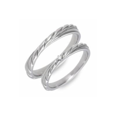 ペアリング ステンレス アレルギーフリー プレゼント 結婚指輪 一粒 ソリティア ダイヤモンド 誕生日プレゼント 送料無料 送料無料