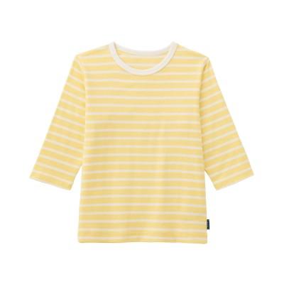 ソフのびフライス七分袖Tシャツ【男の子 女の子 子供服】(ジータ/GITA basic)