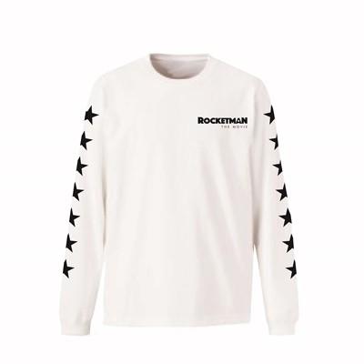 Elton John/Rocketman The Movie Logo 長袖 Tシャツ(ホワイト)/XLサイズ[UIZZ-14428]