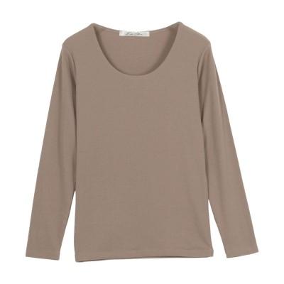 コウベレタス KOBE LETTUCE 【透けにくい】前身二重長袖Tシャツ【Uネック】 [C3655] (モカべージュ)