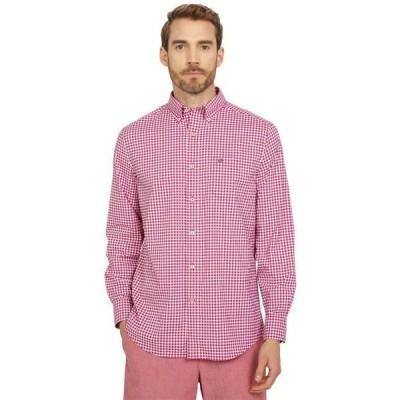 メンズ シャツ トップス Guarded Gingham Intercoastal Long Sleeve Sport Shirt