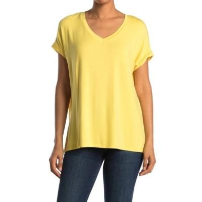 エム マガショーニ レディース Tシャツ トップス Dolman Sleeve Side Vent V-Neck Shirt DESERT SUN