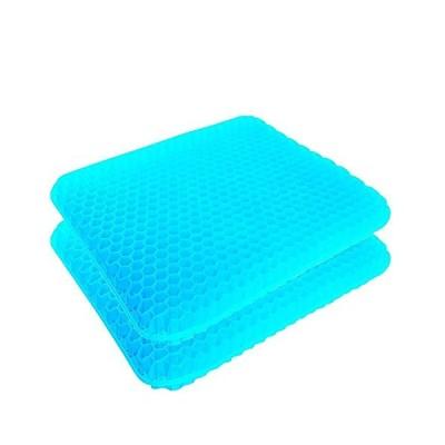 チチロバ(TITIROBA) ゲルクッション 二重 無重力 クッション 腰楽クッション 座布団 腰痛対策 体圧分散 通気性抜群 姿勢矯正 痔