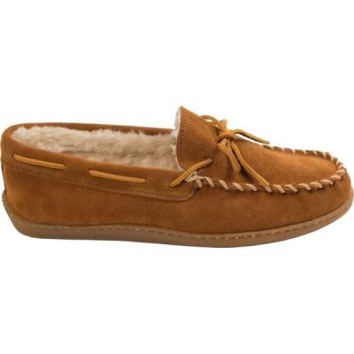 ミネトンカ Minnetonka メンズ スリッポン・フラット モカシン シューズ・靴 Pile Lined Hardsole Moccasin Slippers Brown