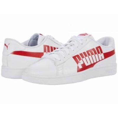 PUMA プーマ メンズ 男性用 シューズ 靴 スニーカー 運動靴 Smash V2 Max Puma White/High Risk Red【送料無料】