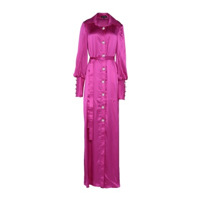 IVAN MONTESI ロングワンピース&ドレス フューシャ 42 シルク 100% ロングワンピース&ドレス