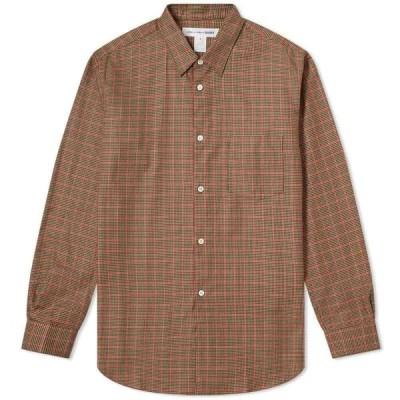 コム デ ギャルソン Comme des Garcons SHIRT メンズ シャツ トップス poplin tweed check shirt Brown