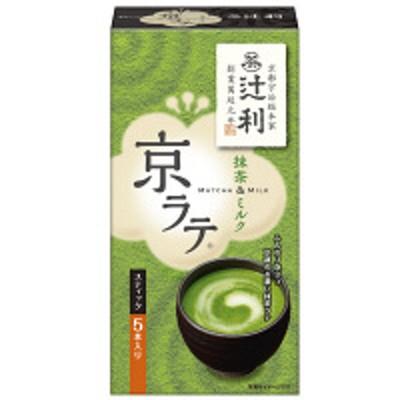 片岡物産辻利 京ラテ 抹茶&ミルク 70g 1箱(5本入)