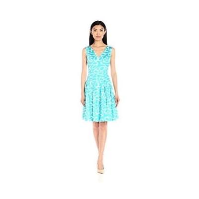 ドレス アンクライン Anne Klein レディース ドレス・ワンピース 10608706 コットン プリントed ダブル. Azure/optic White