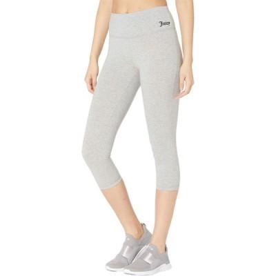 ジューシークチュール Juicy Couture Sport レディース クロップド ボトムス・パンツ High-Waisted Cotton Crop Light Grey Heather