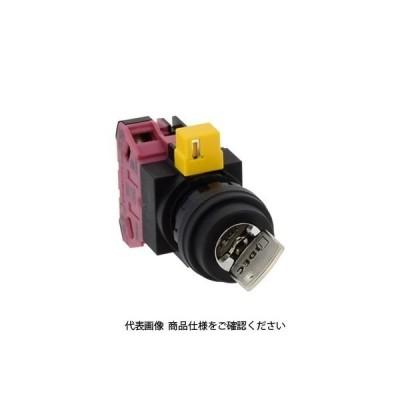 IDEC(アイデック) φ22 HWシリーズ鍵操作形セレクタスイッチ 2ノッチ HW1K-2C01 1セット(2個)(直送品)