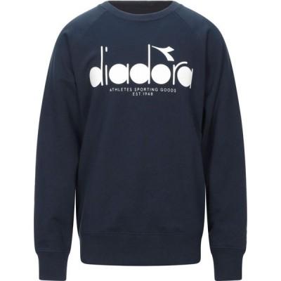 ディアドラ DIADORA メンズ スウェット・トレーナー トップス Sweatshirt Dark blue