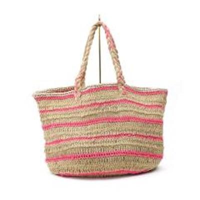 ヌキテパ10%OFFクーポン対象商品 ヌキテパ トートバッグ ビッグバッグ Jute Macrame Big Bag ne Quittez pas 012001401 F(フリー) PINK(PNK) クーポンコード:APPS6UT