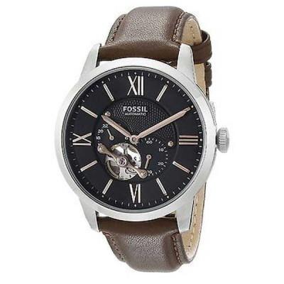 腕時計 フォッシル Fossil メンズ ME3061 'Townsman' オートマチック ブラウン レザー 腕時計