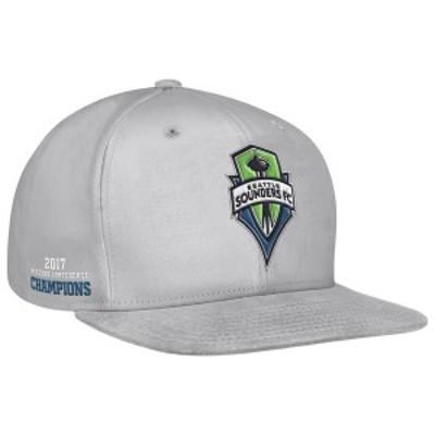アディダス メンズ 帽子 アクセサリー Seattle Sounders FC adidas 2017 MLS Western Conference Champions Snapback Adjustable Hat Gra