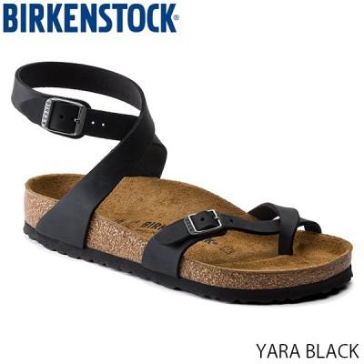 ビルケンシュトック BIRKENSTOCK レディース サンダル ヤラ YARA WOMEN BLACK ストラップ トング 幅広 レギュラー オイルドレザー GC1011442 国内正規品
