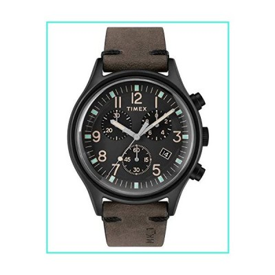 【新品】Timex Mens Chronograph Quartz Watch with Leather Strap TW2R96500(並行輸入品)