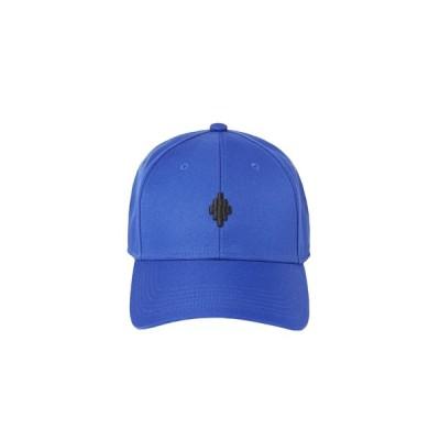 MARCELO BURLON マルセロ ブロン ユニセックス CROSS BASEBALL CAP BLUE BLACK BLUE BLACK