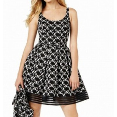 Sachin  ファッション ドレス SB By Sachin & Babi NEW Black Womens Size 2 Embroidered A-Line Dress