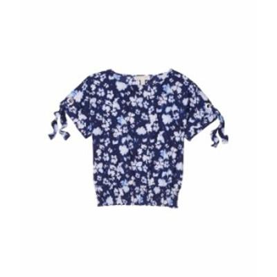 マイケルコース レディース シャツ トップス Petite Mega Poppy Ikat Kimono True Navy