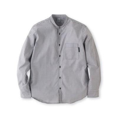 TAKEO KIKUCHI(タケオキクチ)ギンガムチェックバンドカラーシャツ